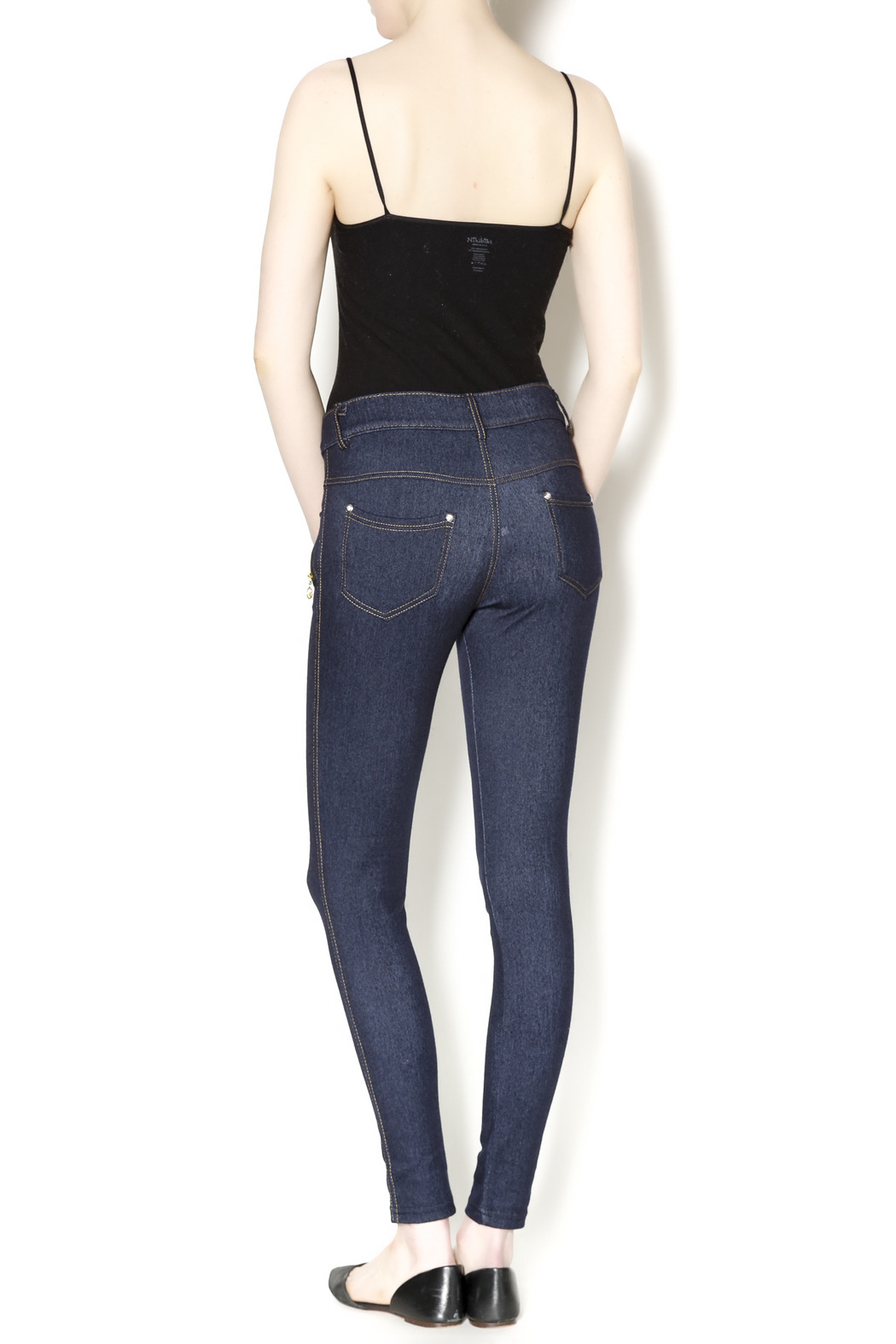 Yelete Indigo Jeggings - Side Cropped Image