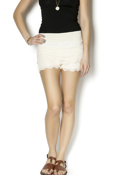 MUSA Ivory Crochet Shorts - Product List Image
