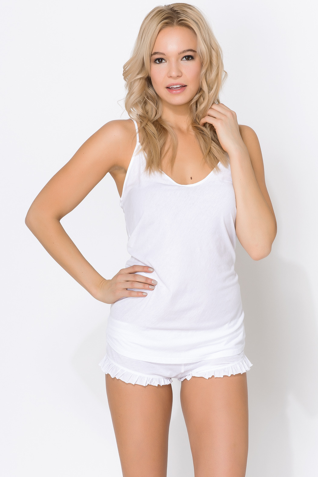 Skin Organic Cotton Sexy Cami - Front Cropped Image