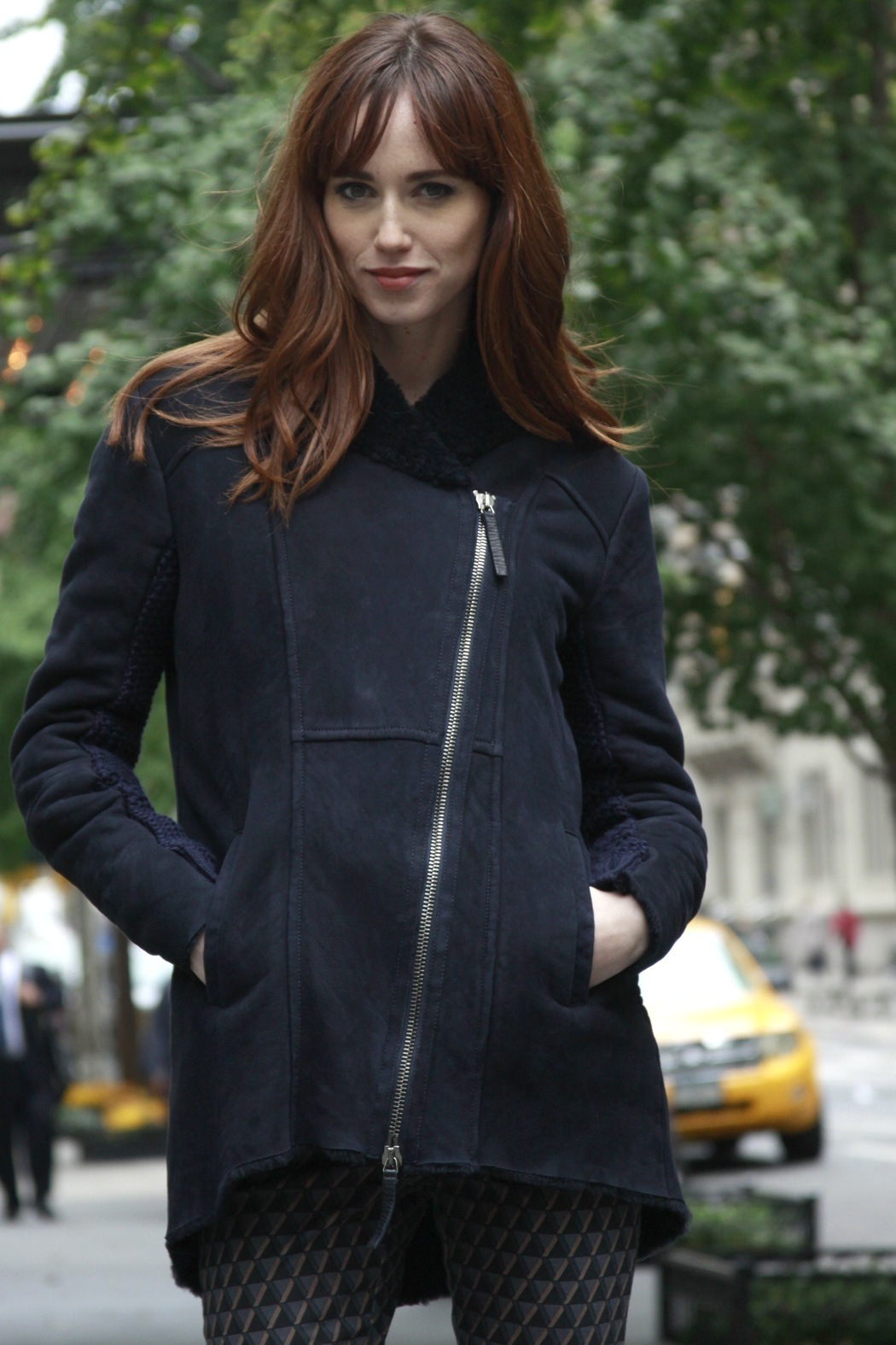Brogden Navy Shearling Jacket from Harlem by SWING — Shoptiques