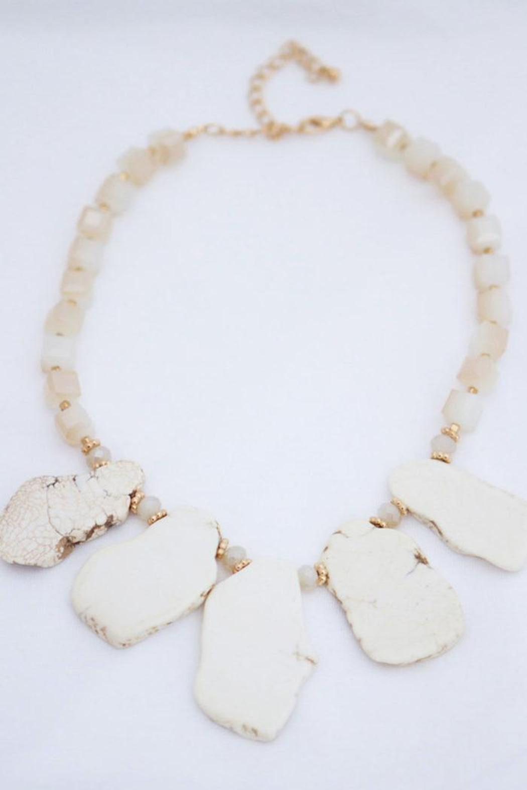 Neutral Stone Necklace  - Main Image