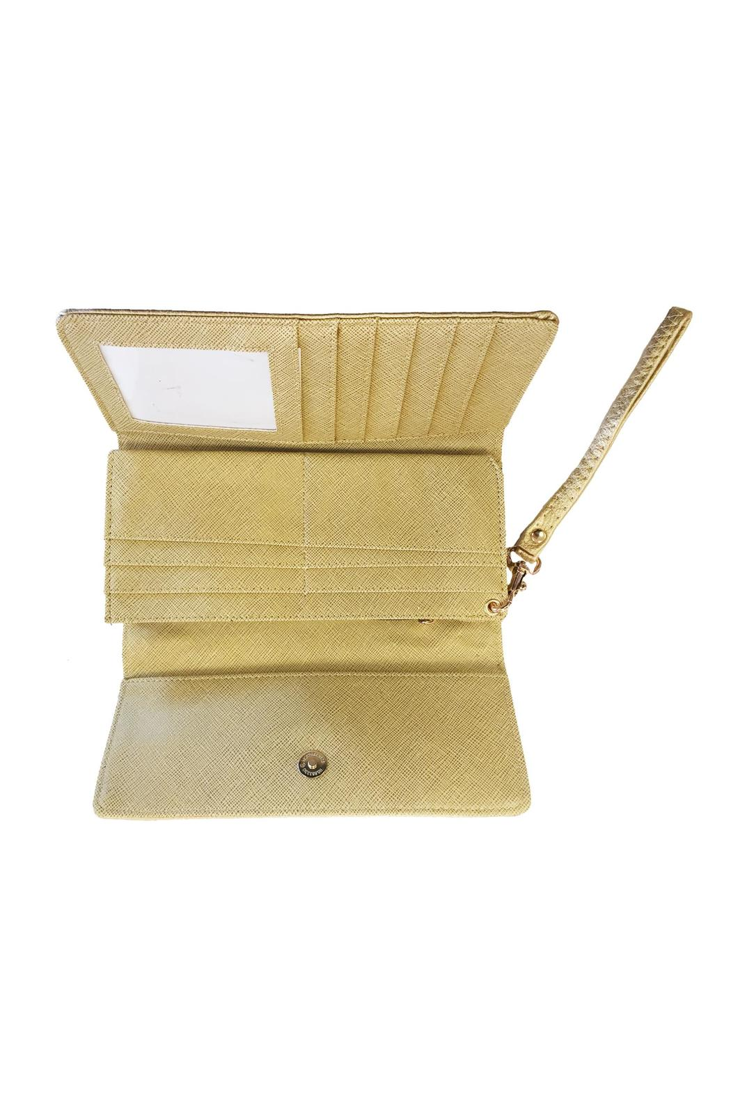 Gold Medallion Wallet From Cape Cod By Bella Of Cape Cod Shoptiques