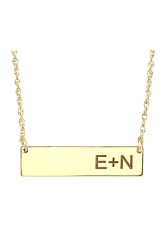 A & I Bar Initial Necklace - Product List Image