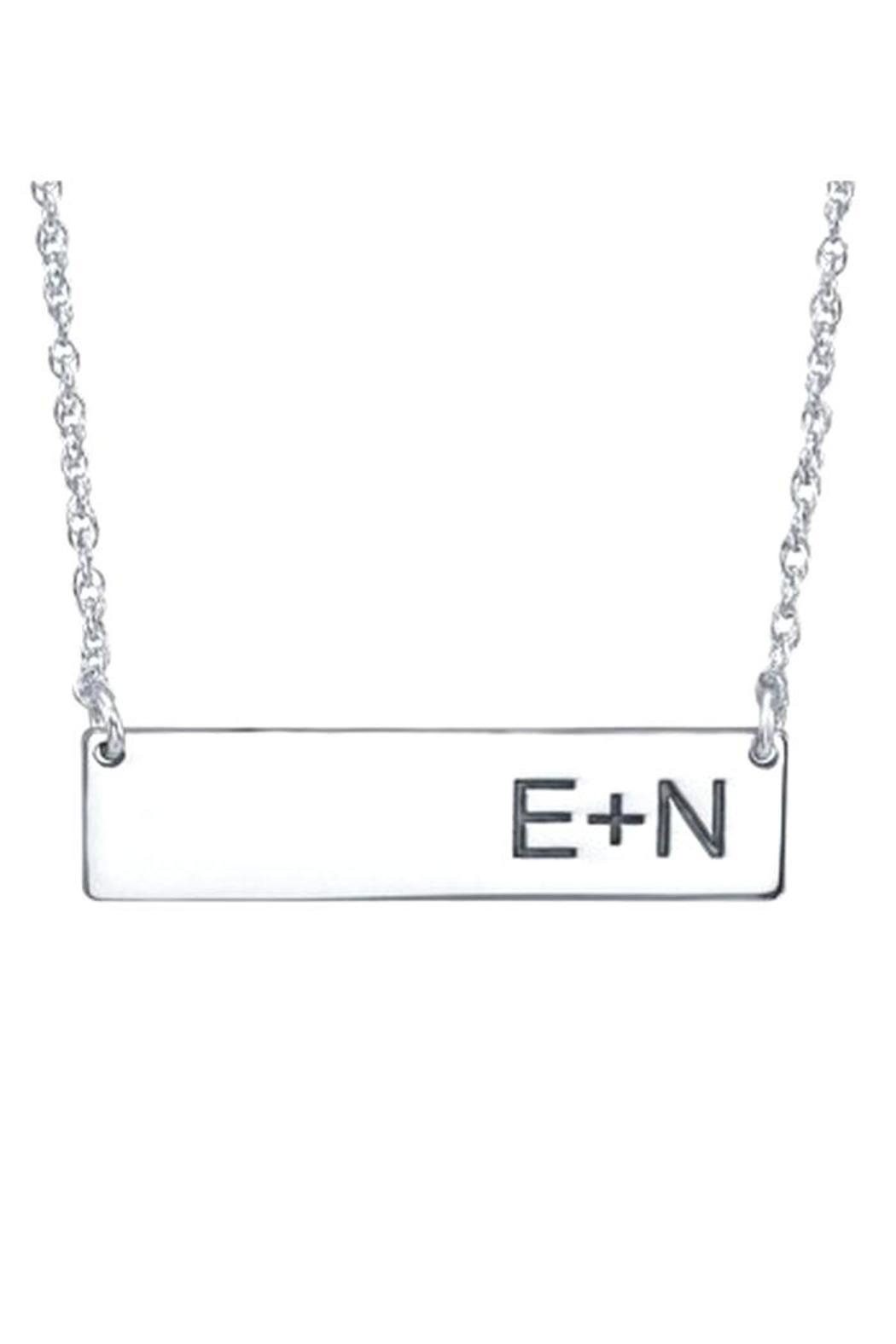 A & I Bar Initial Necklace - Front Cropped Image
