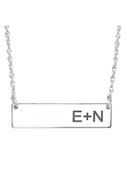 A & I Bar Initial Necklace - Front cropped