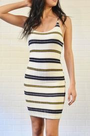 A Ellen Stripe Tie-Back Dress - Front cropped