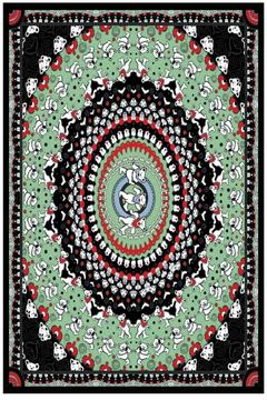 A Little Bit Hippy Black Bears Tapestry - Alternate List Image