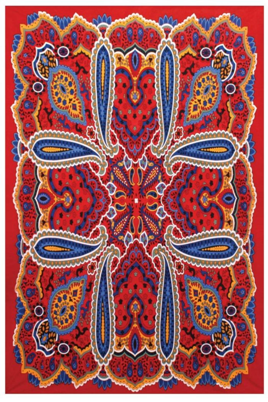 A Little Bit Hippy Bright Paisley Tapestry - Front Cropped Image