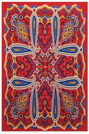 A Little Bit Hippy Bright Paisley Tapestry - Front cropped