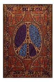 A Little Bit Hippy Love Peace Tapestry - Product Mini Image