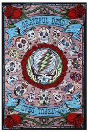 A Little Bit Hippy Mexicali Skulls Tapestry - Product Mini Image