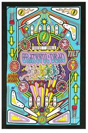 A Little Bit Hippy Pinball Machine Tapestry - Front cropped