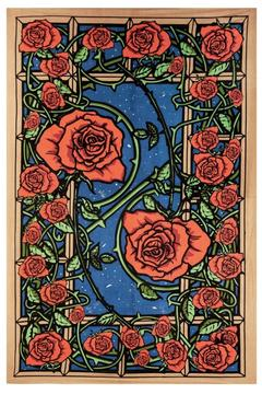 A Little Bit Hippy Red Rose Tapestry - Alternate List Image
