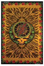 A Little Bit Hippy Red Roses Tapestry - Product Mini Image