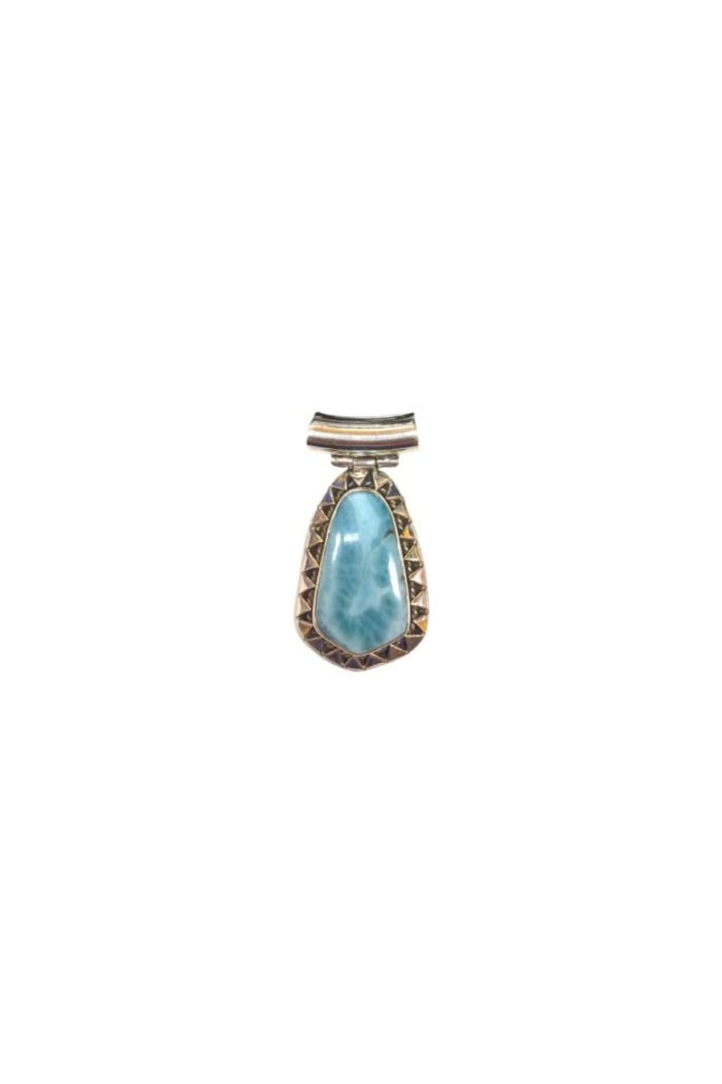A little bit hippy sterling larimar pendant from roanoke shoptiques a little bit hippy sterling larimar pendant front full image aloadofball Image collections