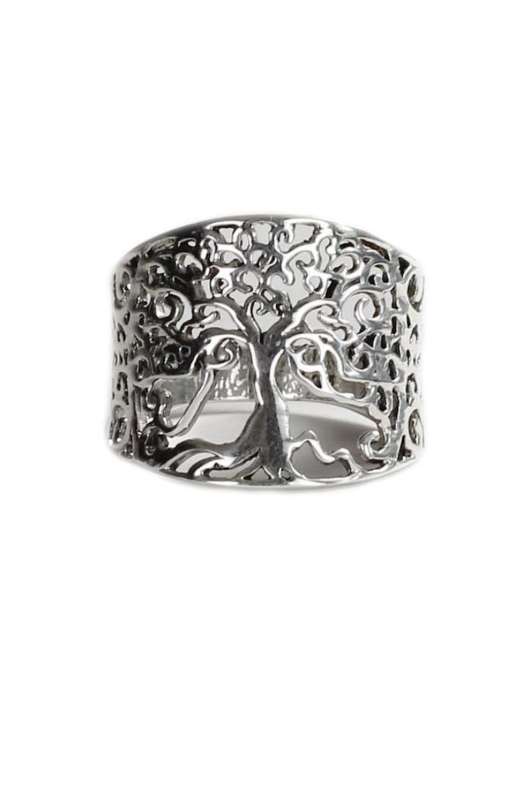 A Little Bit Hippy Sterling Tree Ring - Main Image