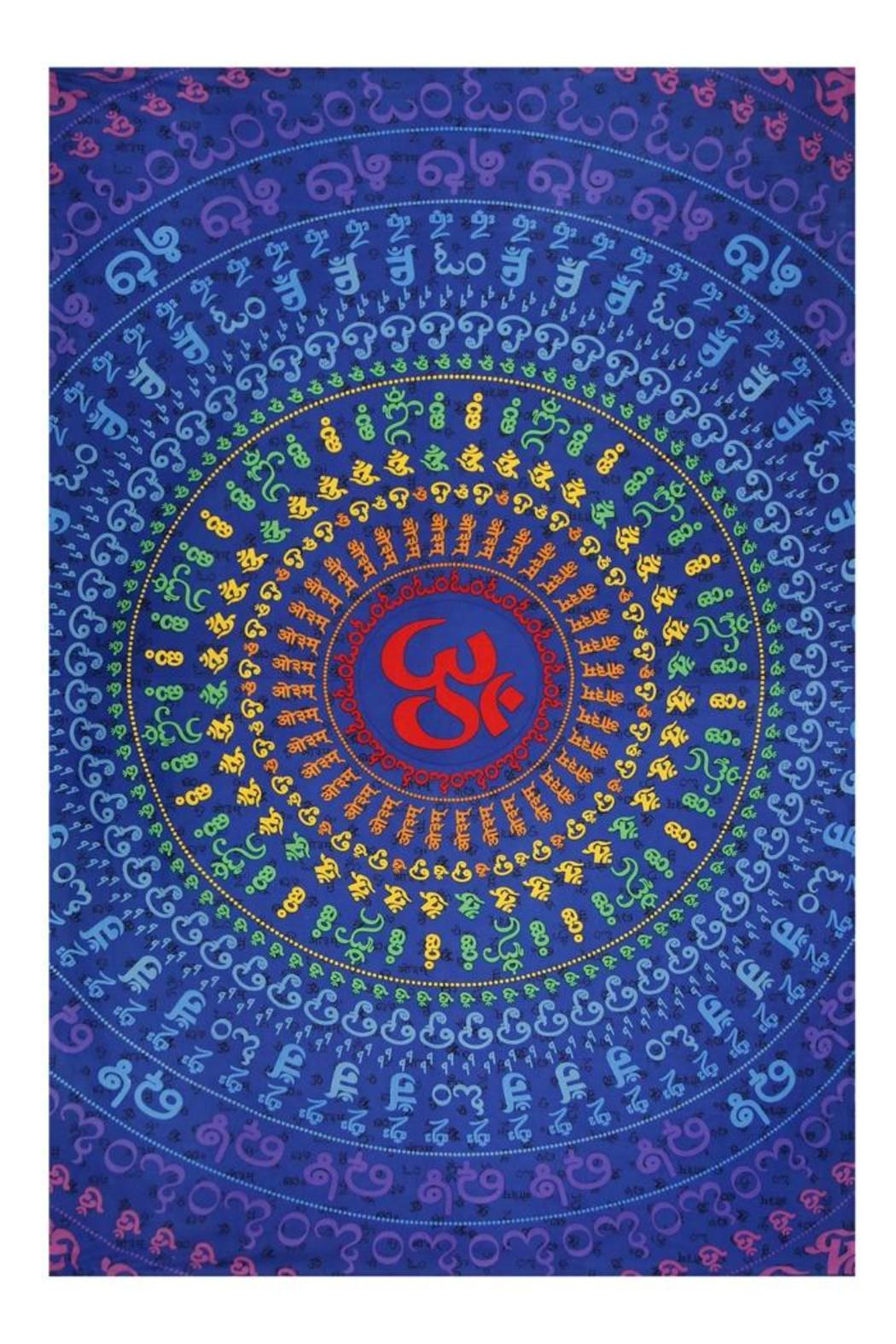 A Little Bit Hippy Universal Om Tapestry - Main Image