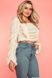 A Peach Blush Ruffled Top - Product Mini Image