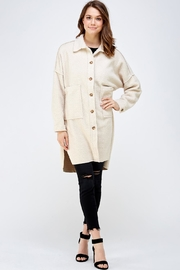 A Peach Button Down Teddy-Coat - Product Mini Image