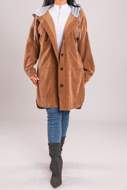 A Peach Camel Hoodie Jacket - Product Mini Image