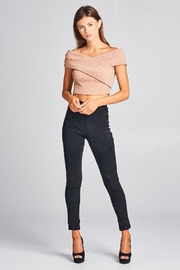 A Peach Crop Pearl Sweater Top - Front full body
