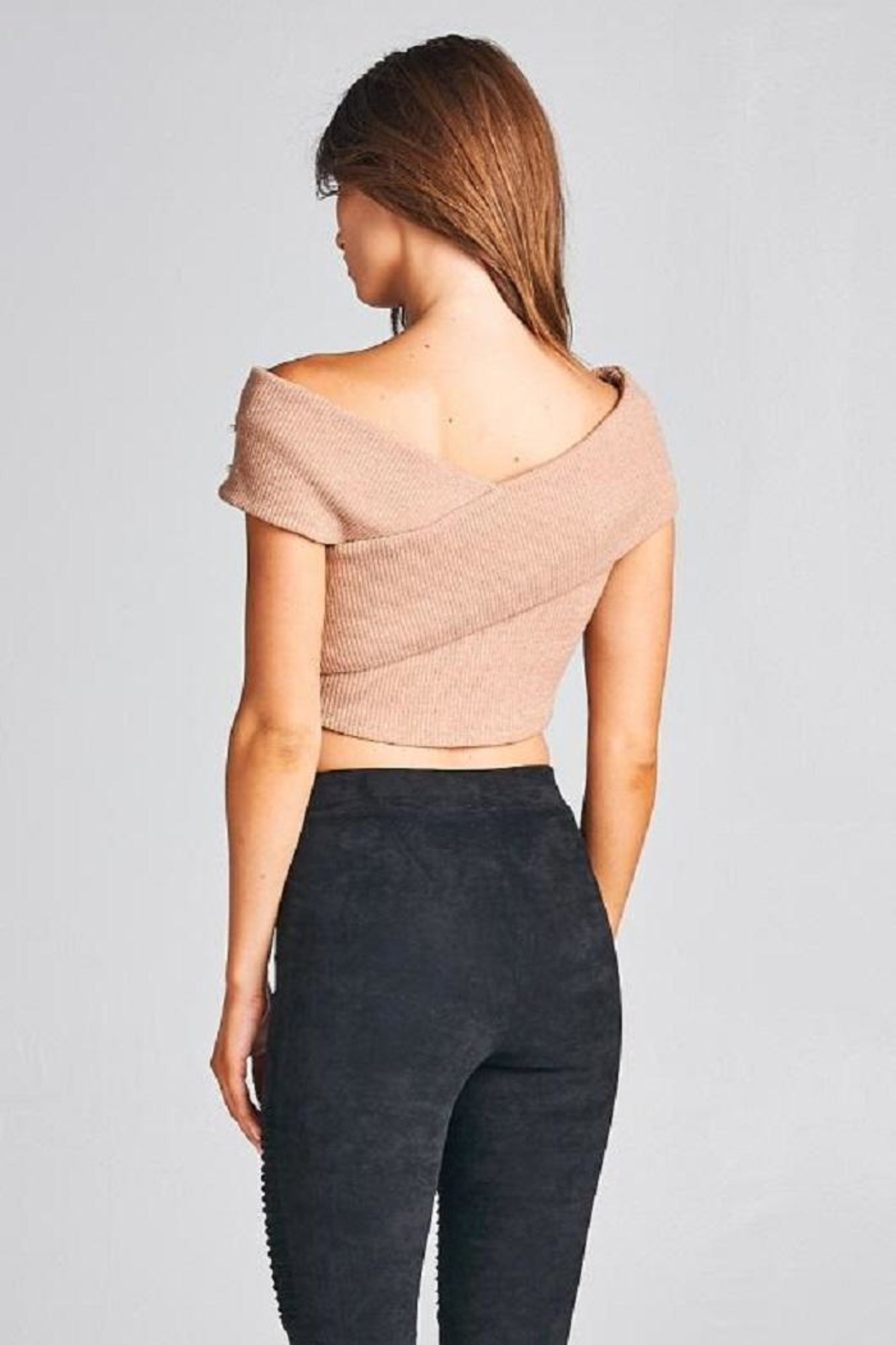 A Peach Crop Pearl Sweater Top - Back Cropped Image