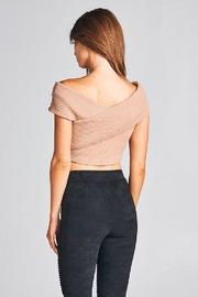 A Peach Crop Pearl Sweater Top - Back cropped