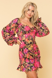 A Peach Floral Ruched Mini - Product Mini Image