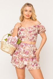 A Peach Floral Shorts Set - Product Mini Image