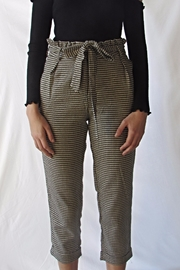 A Peach Hounds-Tooth Tie Pants - Product Mini Image