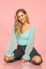 A Peach Mint Mesh Top - Product Mini Image