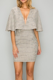 A Peach Plaid Cape Dress - Product Mini Image