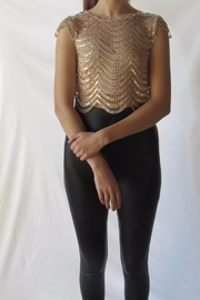 A Peach Sequin Detail Top - Product Mini Image