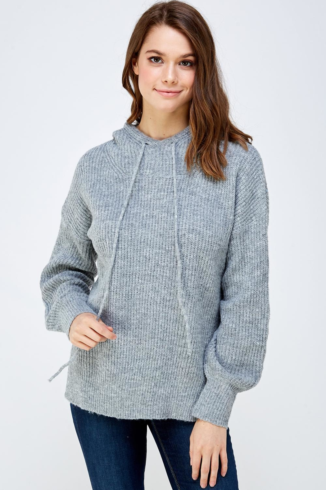 A Peach Soft Knitted Sweater - Main Image