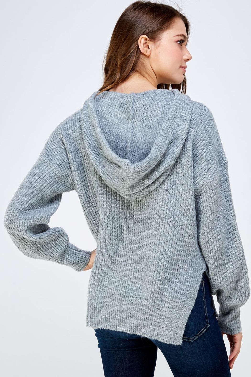 A Peach Soft Knitted Sweater - Side Cropped Image