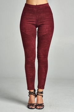 Shoptiques Product: Suede Moto Legging