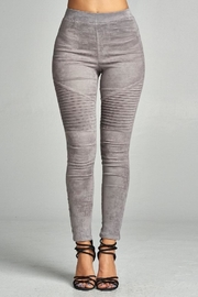A Peach Suede Moto Legging - Product Mini Image