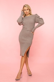 A Peach Sweater Midi Dress - Product Mini Image