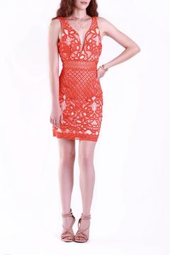 A Peach Tomato Lace Dress - Alternate List Image