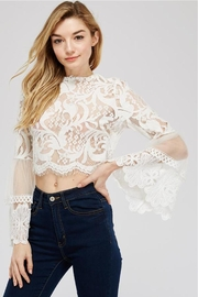 A Peach White Lace Blouse - Product Mini Image