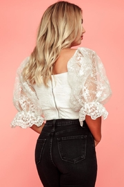 A Peach White Lace Top - Side cropped