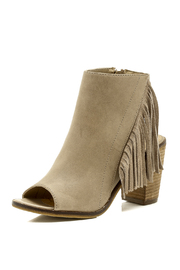 Very Volatile Peep Toe Bootie - Back cropped