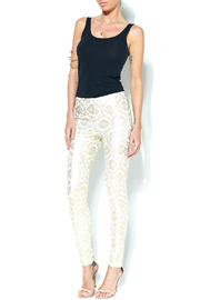 Ark & Co. Metallic Leggings - Front full body