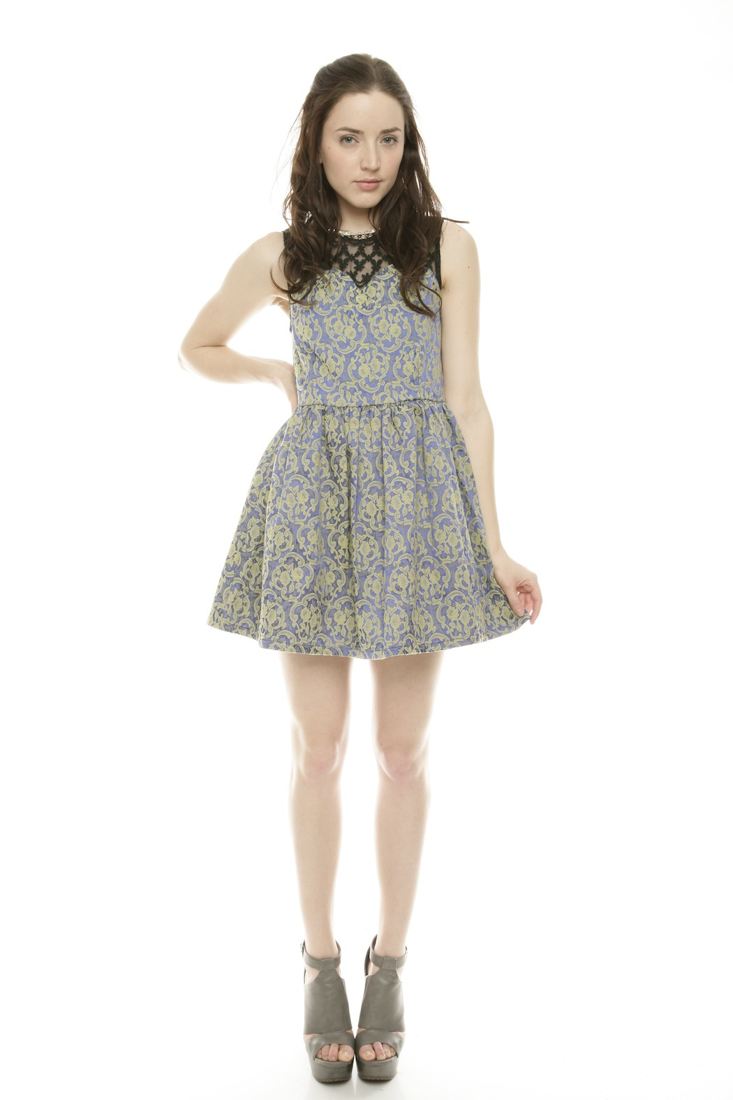 Gracia Pearl Floral Dress - Front Full Image