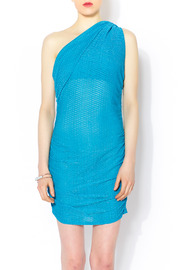 Celeste Aqua Gathered Dress - Product Mini Image