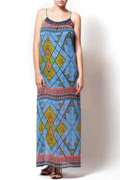 Shoptiques Product: Beaded Neckline Printed Maxi