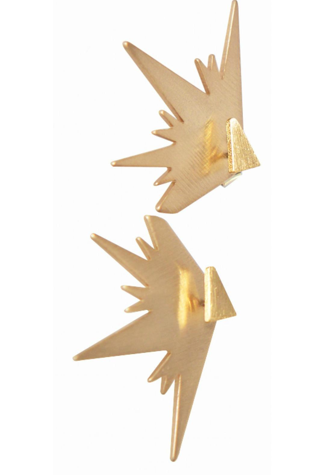 Wren and Glory Starburst Back Studs - Front Cropped Image