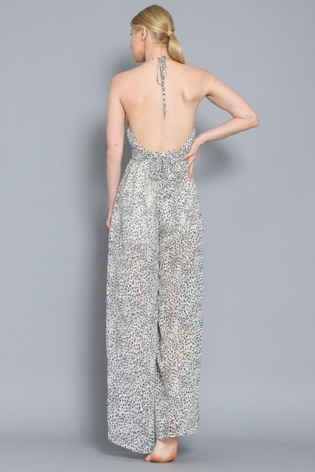 AAKAA Animal Halter Jumpsuit - Back Cropped Image