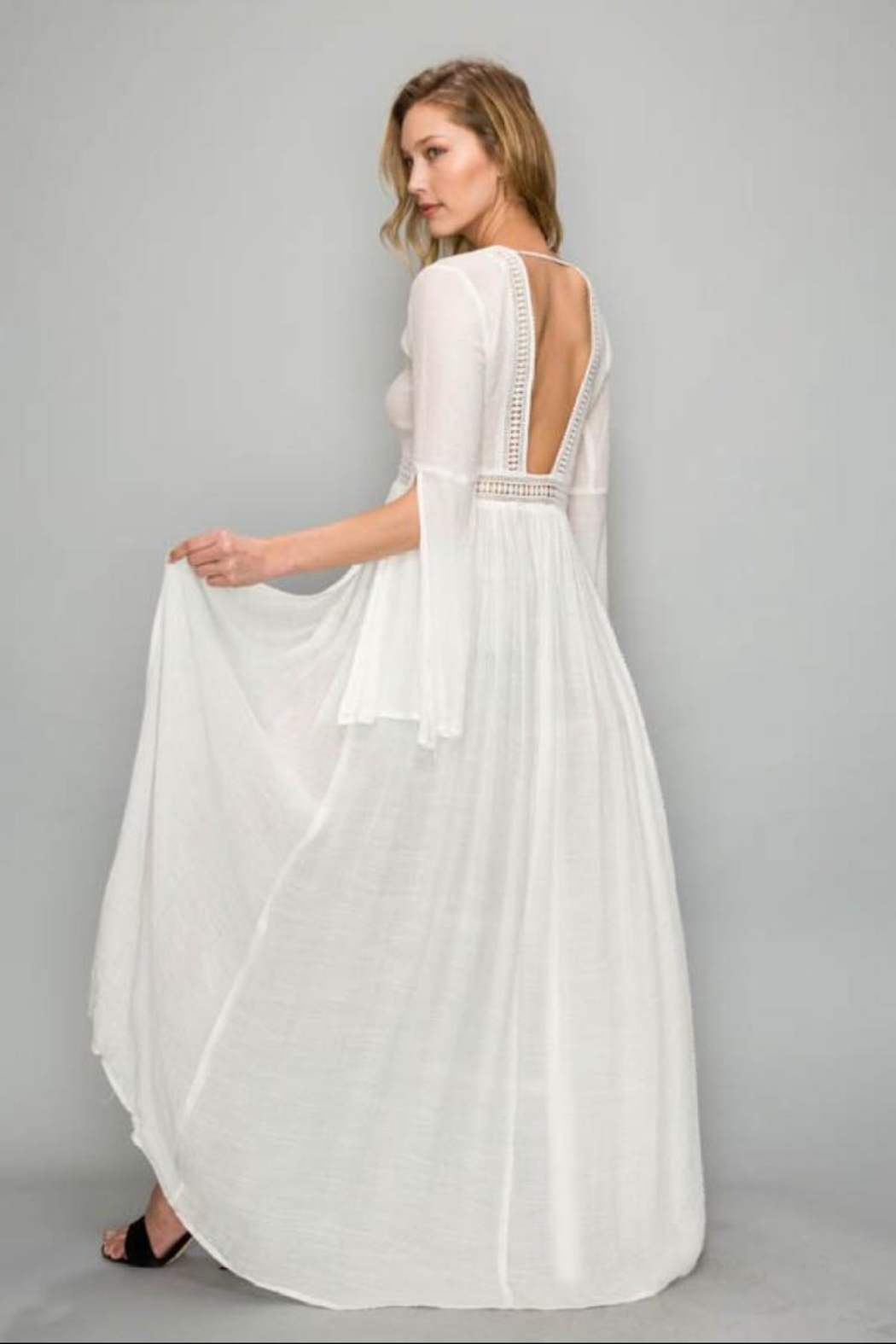 AAKAA Bell-Sleeve Cover-Up Dress - Front Full Image