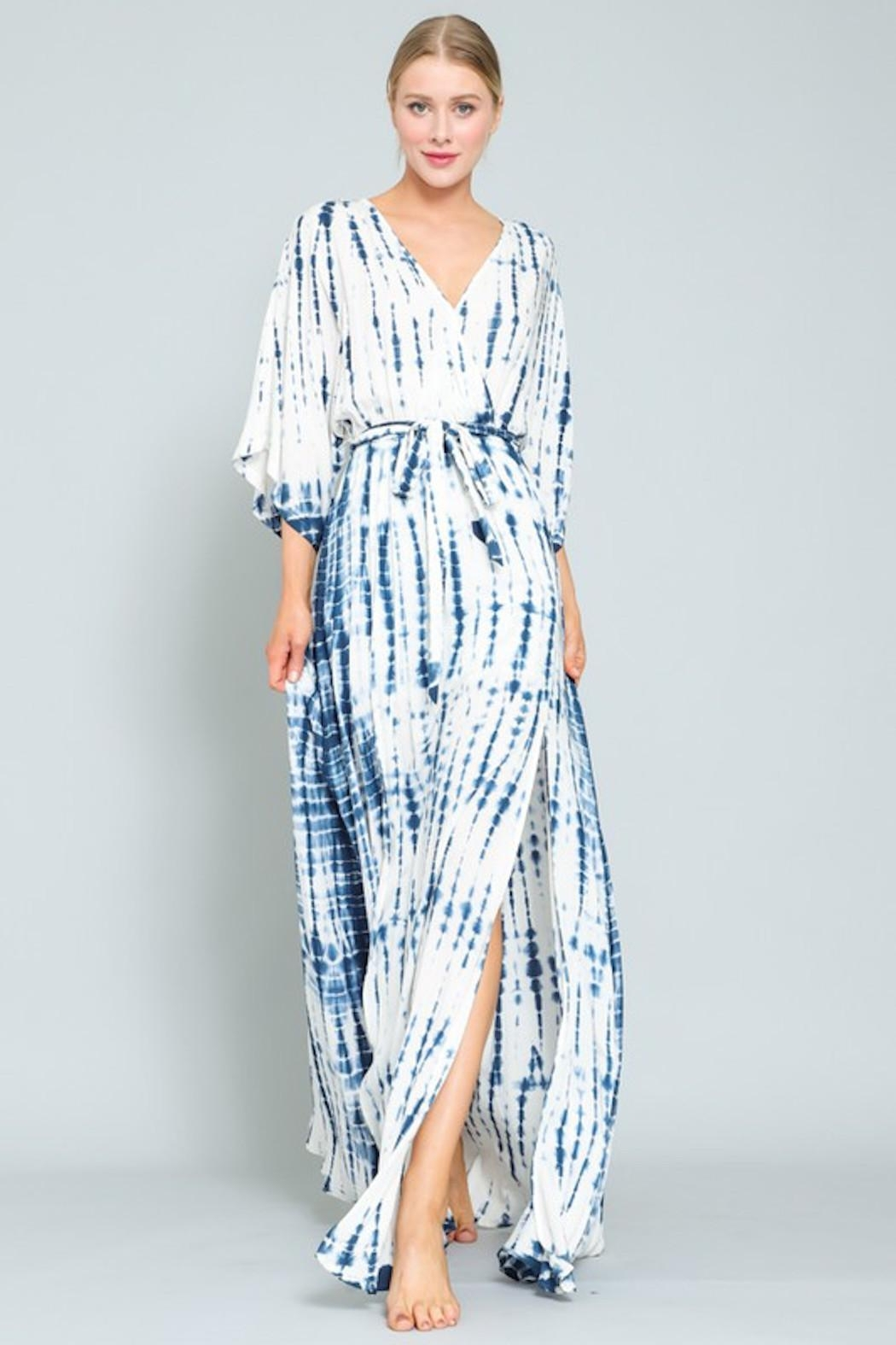 AAKAA Blue Wave Maxi - Front Cropped Image